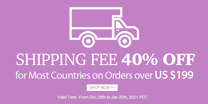 40% Shipping Fee Discount