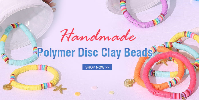 Handmade Polymer Disc Clay Beads