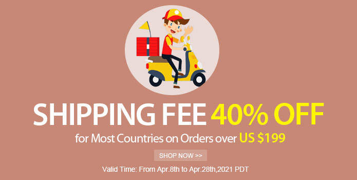 Shipping Fee 40% OFF Discount