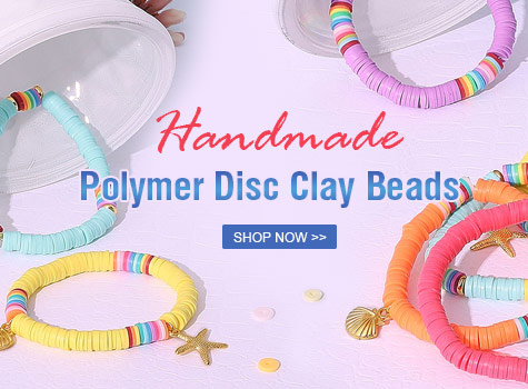 Hot disc clay beads for Sale