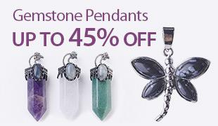 Up to 45% OFF Gemstone Pendants