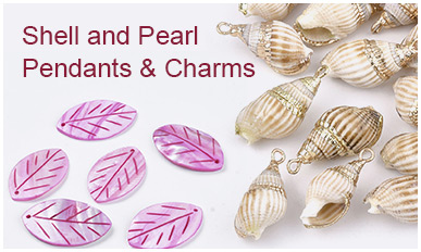 Shell and Pearl Pendants & Charms