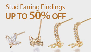 Up To 50% OFF Stud Earring Findings